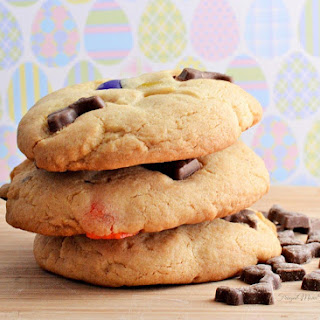 Chocolate Bunny & Jelly Bean Easter Cookies
