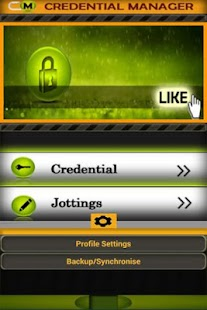CREDENTIAL MANAGER - password- screenshot thumbnail