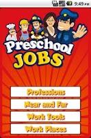 Screenshot of Preschool Jobs, When I Grow Up