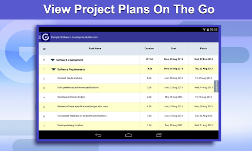 Gantt Pro -Project Plan Reader- screenshot thumbnail