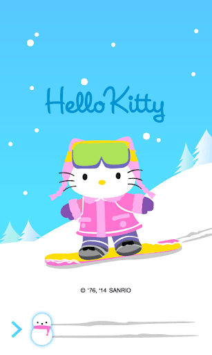 Hello Kitty Skiing Screen Lock