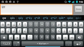 Screenshot of Klallam Keyboard Plugin