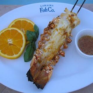 Orange-Scented Grilled Lobster Tails.