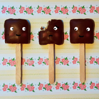 Chocolate Covered Fig Newtons on a Stick