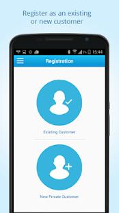 Aplikace na převod peněz - náhled