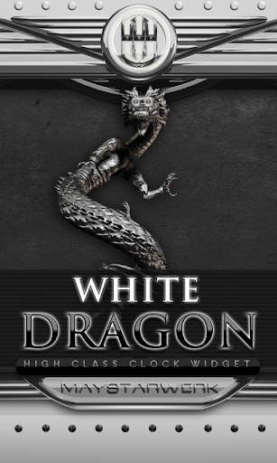 Dragon Clock Widget white
