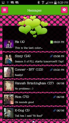 GO SMS - Divine Hearts 2 - screenshot
