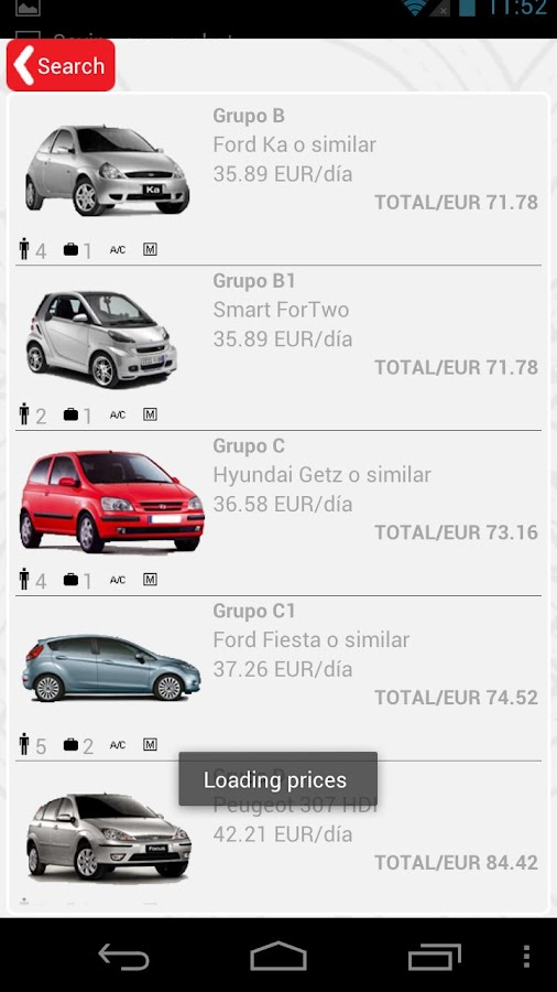 recordGO rent a car - screenshot