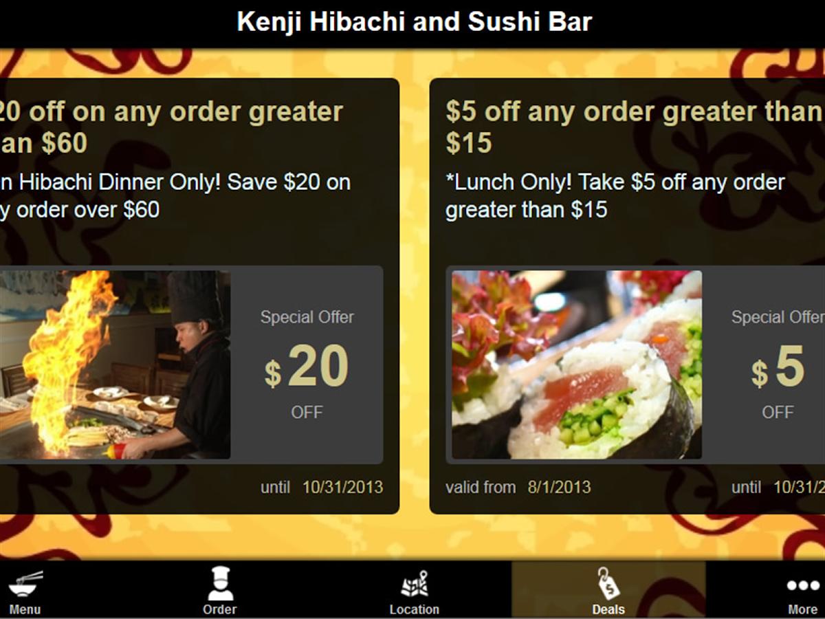 sushi bar spiel