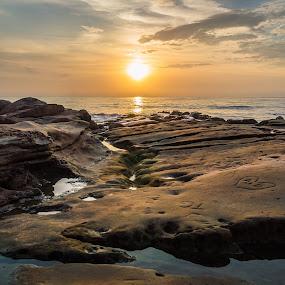 A+D  by Ruben Parra - Landscapes Waterscapes ( susnet, san diego, cove, ocean, beach, rocks, la jolla,  )