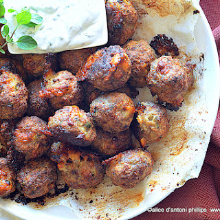 Turkish Lamb Asiago Meatballs