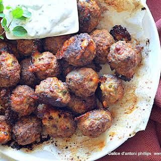 Turkish Lamb Asiago Meatballs.