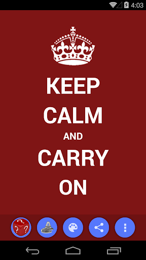 Keep Calm And Carry on Creator