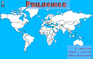 Screenshot of Find the countries - Map Game