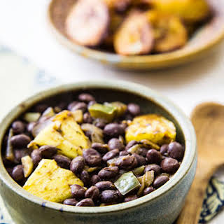 Caribbean Pineapple Black Beans.