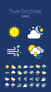 COLOR WEATHER ICONS FOR HDW screenshot 0
