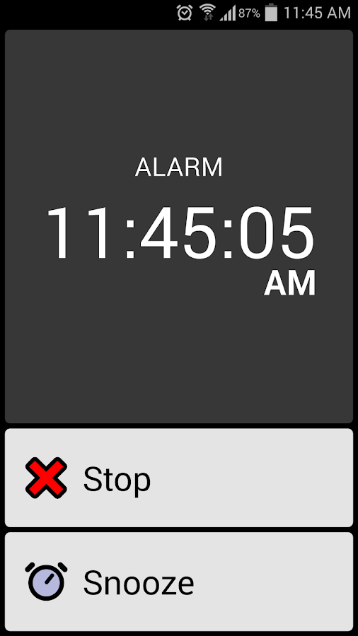 BIG Alarm- screenshot