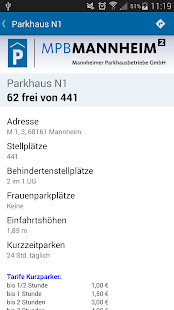 Parken in Mannheim- screenshot thumbnail