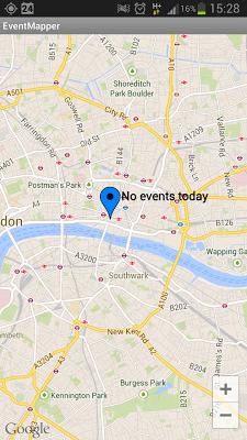 Social Event Mapper - screenshot