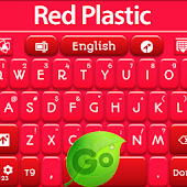 Red Plastic Keyboard