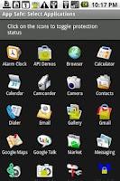 Screenshot of App Safe License