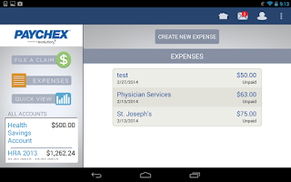 Screenshot of Benefit Account