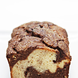 Banana Bread with Brazil Nuts and Dark Chocolate Swirls.