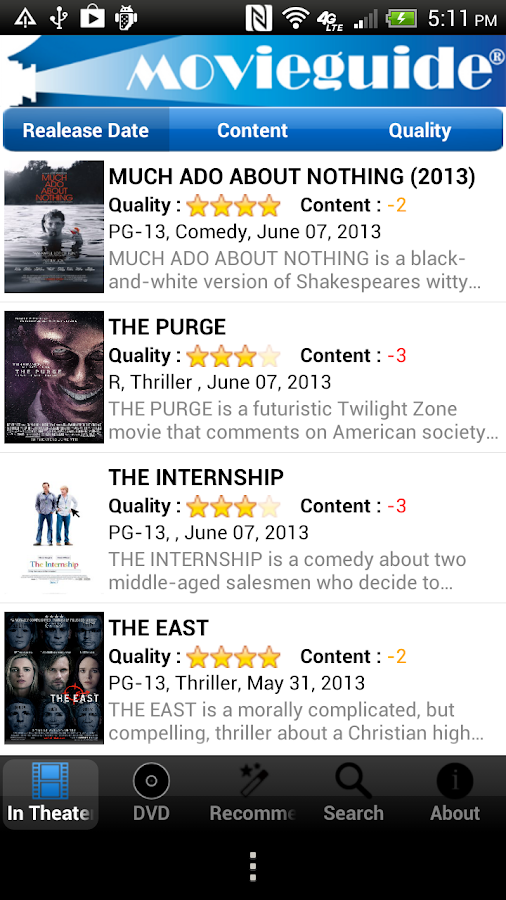 Movieguide 2.0- screenshot