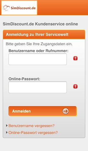 SimDiscount Servicewelt