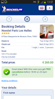 Screenshot of MICHELIN Hotels- Booking