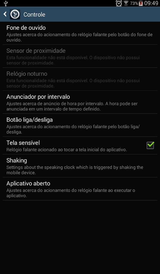 Relógio falante: TellMeTheTime - screenshot