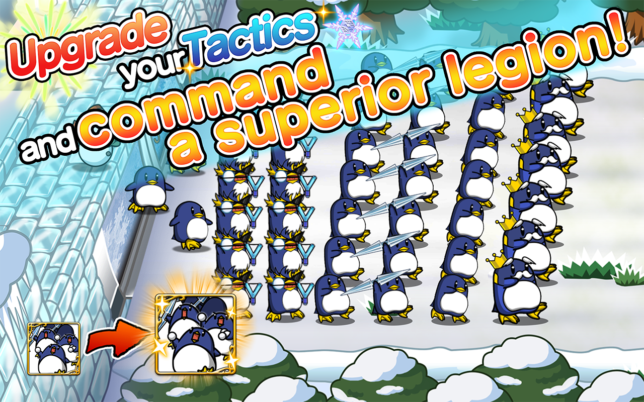 SNOW WORLD:Easy defense action- screenshot