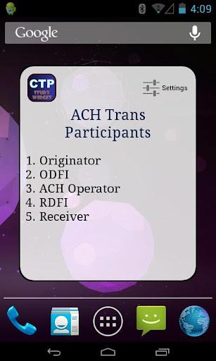 CTP Exam Study Widget - FREE