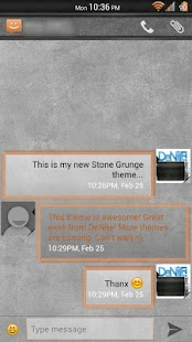 Stone Grunge Orange CM11 Theme - screenshot thumbnail