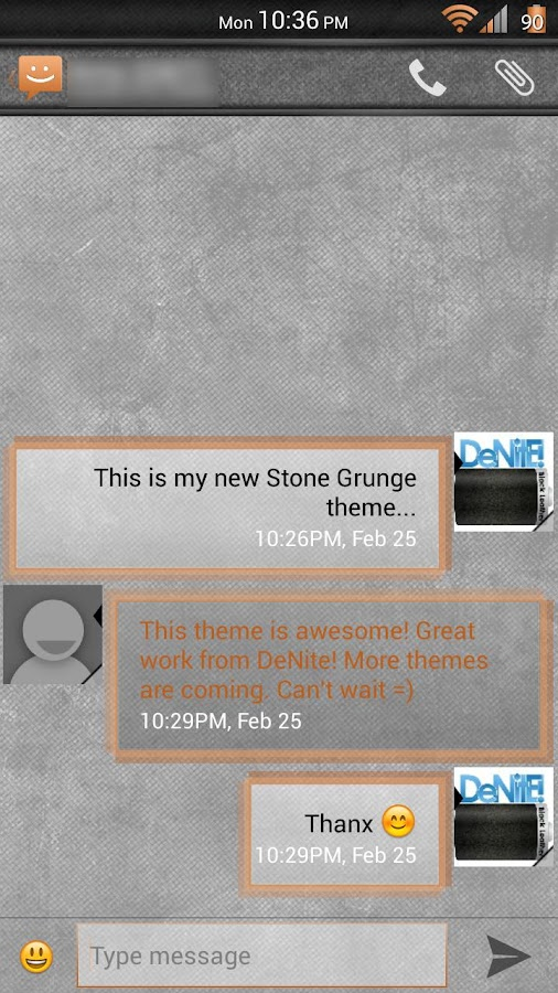 Stone Grunge Orange CM11 Theme - screenshot