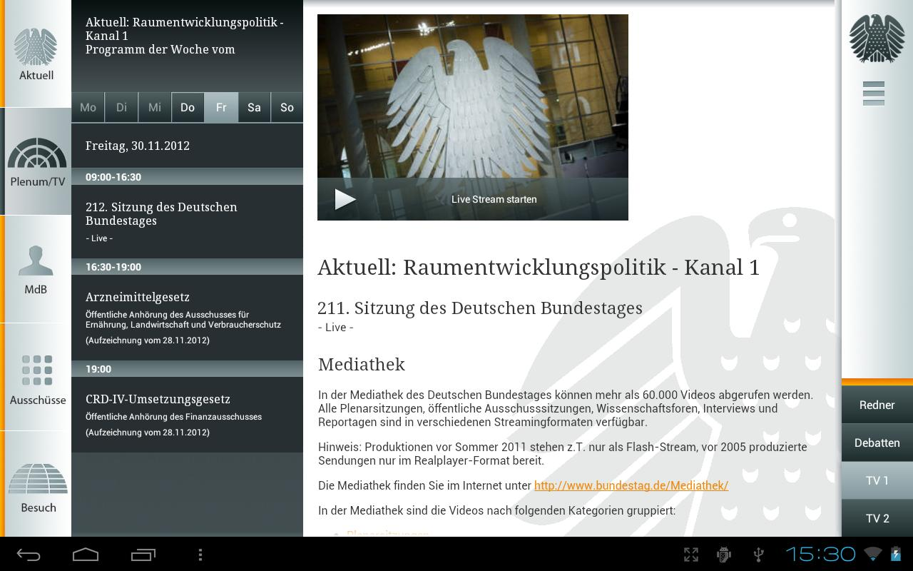 Deutscher Bundestag- screenshot