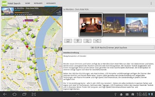 Screenshot of Hotel Search