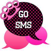 GO SMS - Pink Knuckles