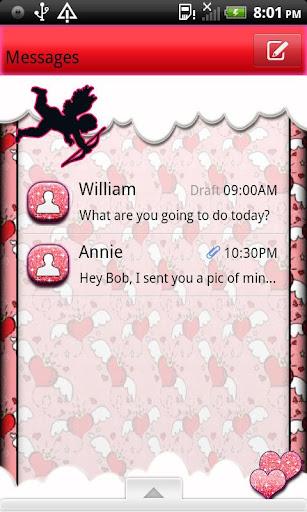 GO SMS THEME ValentinesDay4U3