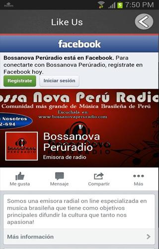 Bossa Nova Peru Radio- screenshot
