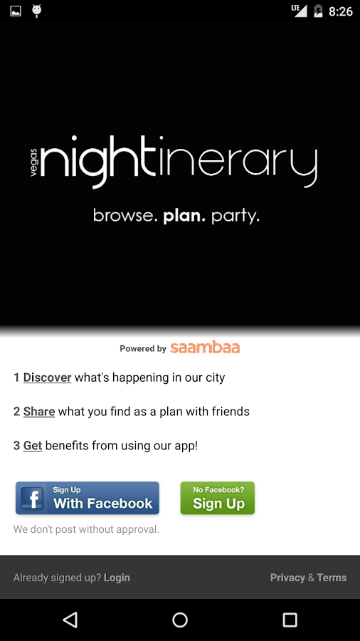 nightinerary- Vegas Events- screenshot