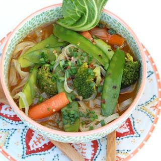 Veggie Pho (Vietnamese Noodle Soup).