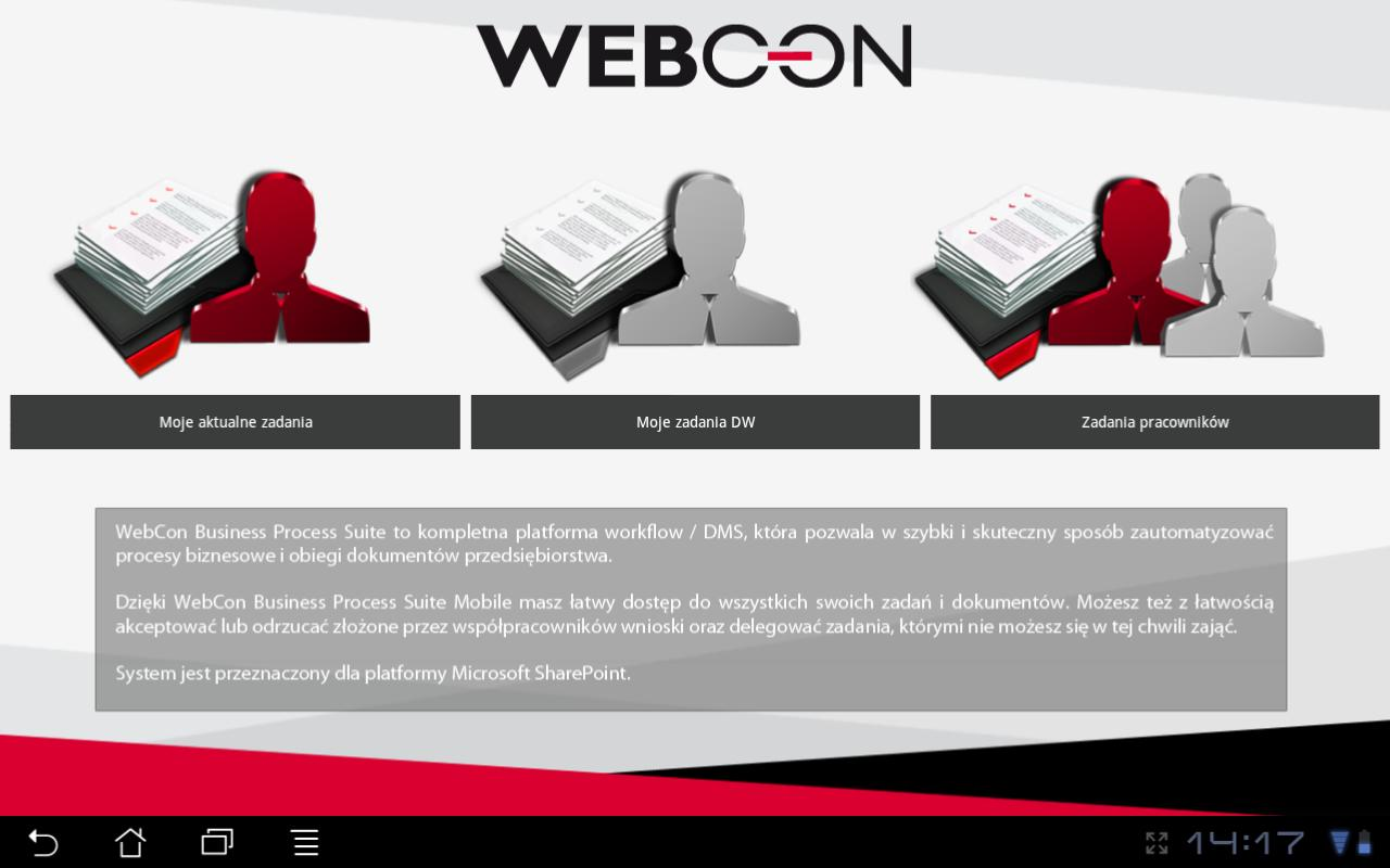 WEBCON BPS Mobile - screenshot