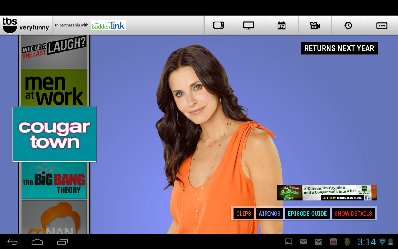 WATCH TBS for Tablets - screenshot
