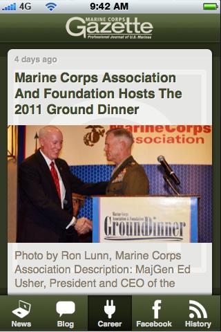 Marine Corps Gazette - screenshot