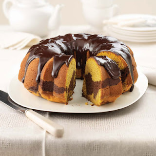 Pumpkin Chocolate Marble Cake