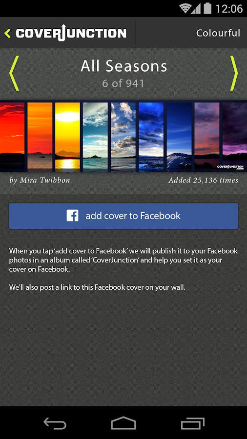 Junction for Facebook Covers- screenshot
