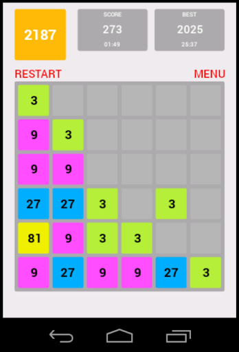 2187 the hard 2048 game