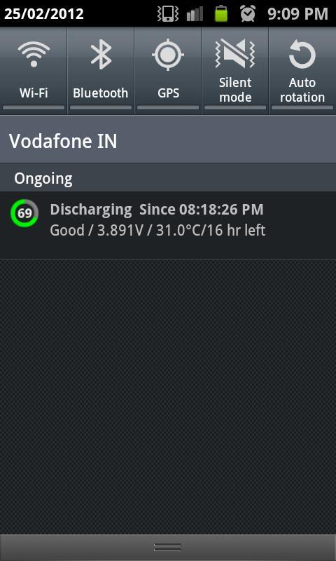 Sofodroid Battery Level- screenshot