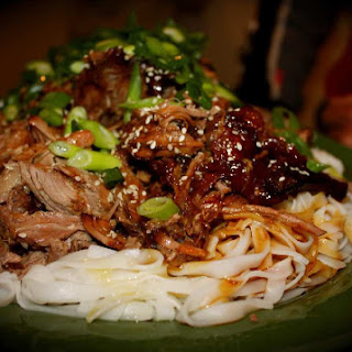 Slow Cooked Sticky Asian Lamb.